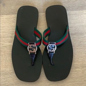 Gucci GG thong Web sandals Shoes